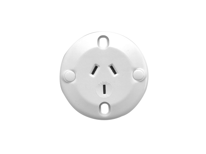 426 Single Socket Outlet 250vac 10a 3 Pin Flush Mount Suits Round