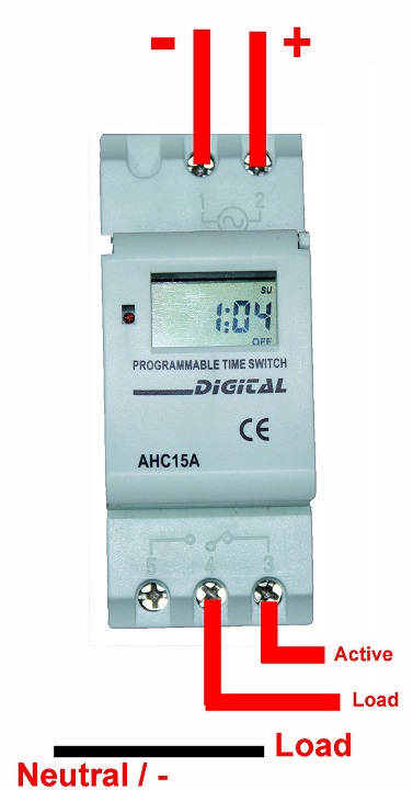 Programmable Timer    Switch    DC 12V 16A Din Rail Mounted