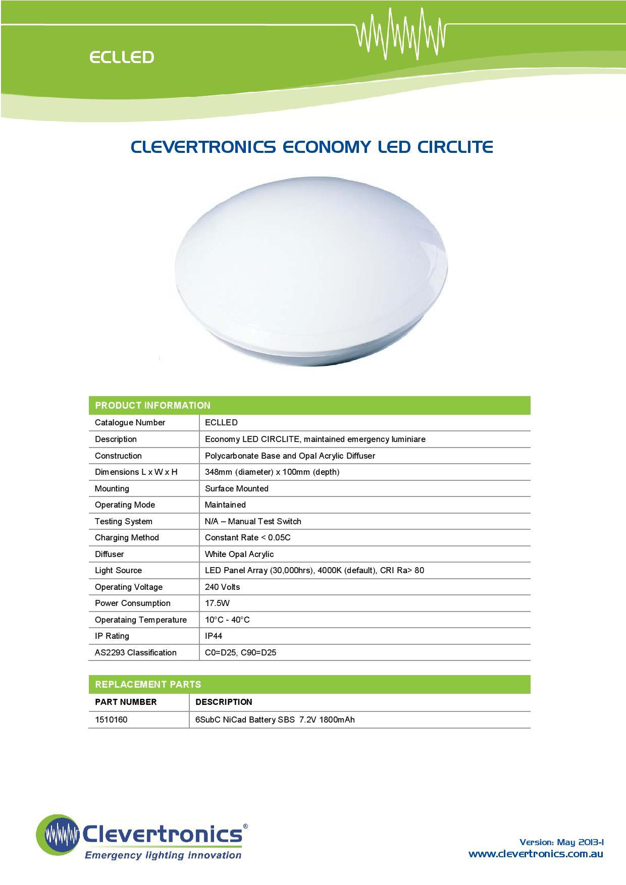 Clevertronics 17 5w Led Emergency Oyster