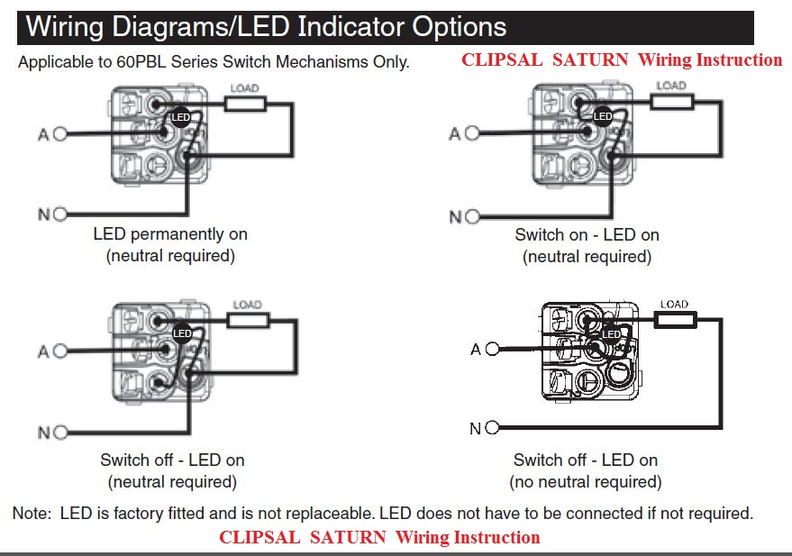 Clipsal Telephone Wiring Diagram : Discounted today clipsal saturn push button three gang