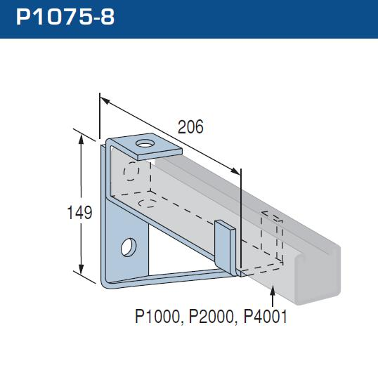 Cantilever Bracket P1075-8 Hot Dipped Galvanised