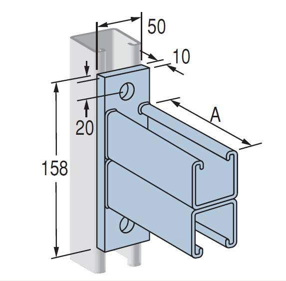 Cantilever Bracket P2545 Hot Dipped Galvanised 760mm