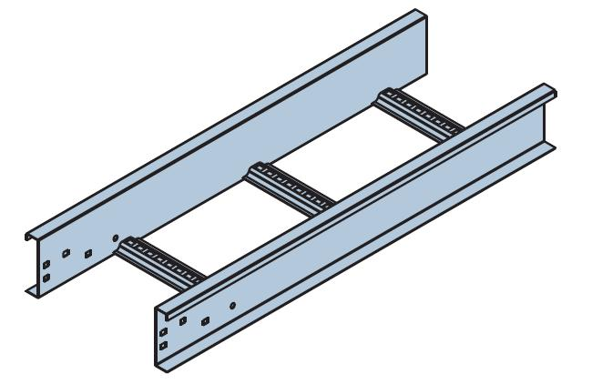 Nema 20b Steel Cable Ladder 450w 6m Hot Dipped Galvanised