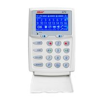 K-6205 NESS D16X PANEL WITH SILVER LCD KEYPAD