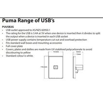 TRADER Pumma Fully Integrated 3.4A Dual USB Charger