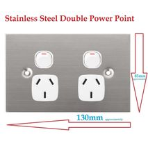 Stainless Steel Double Power Point 10A