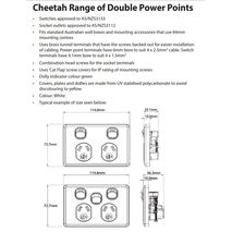 TRADER Semi Slim Cheetah Series power points