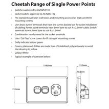 TRADER Semi Slim Cheetah Series Single Power Point