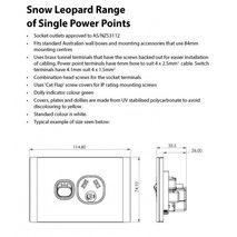 TRADER Snow Leopard Series Single Power Point