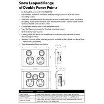 TRADER Snow Leopard Series Double Power Point