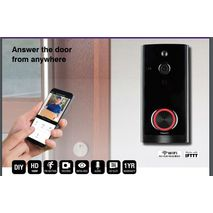 Brilliant Smart IP44 WiFi Video Doorbell with Two-way audio, Night vision