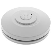 RED R10RF  Smoke Alarm, Photoelectric,  Wireless Interconnect, 3V Sealed Battery White