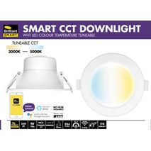 Brilliant Smart 9W LED Dimmable CCT Downlight Trilogy