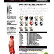 Trader Switch Mechanism 32A 250 clip Into Flat cat , Puma , Cougar  data sheet
