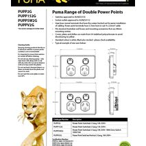 Trader Power Point Switched 2 Gang, 10A 250V data sheet