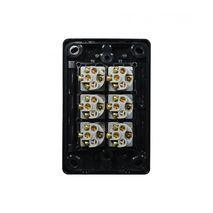 Trader Switch Vertical 6 Gang, 10AX/16A 250V black back