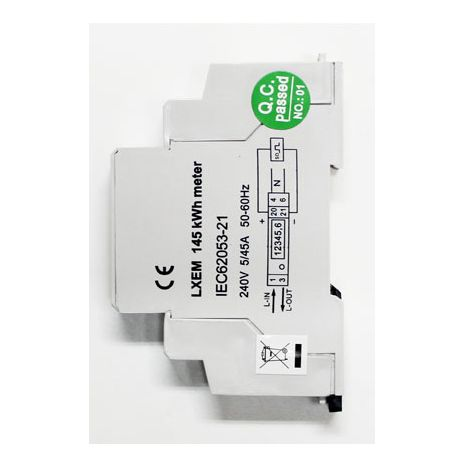 Single phase 45a kwh meter wiring
