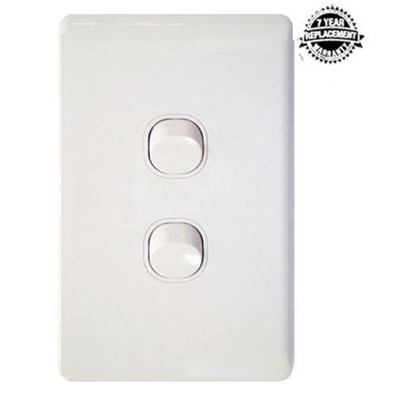 LANX Two Gang Wall Switch 16A