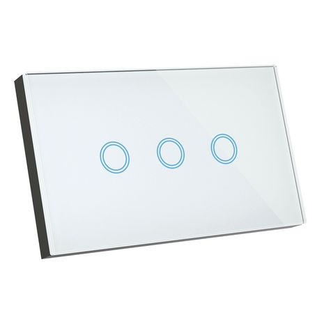 Smart Elite Glass Wall 3 Gang Switches Blue LED indictor  works with Alexa and Google Assistant