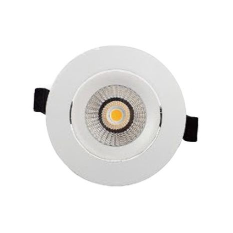 3A Lighting 10w DL9411 White Adjustable LED Downlight Warm White