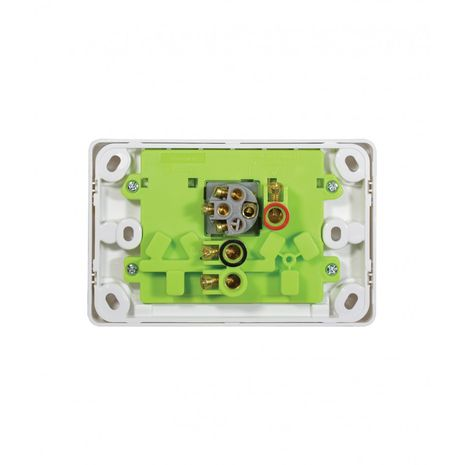 Power Point Switched 2 Gang, 10A 250V with Extra Switch 10AX/16A back