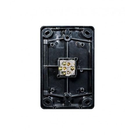 Trader Switch Vertical 1 Gang, 10AX/16A 250V black back