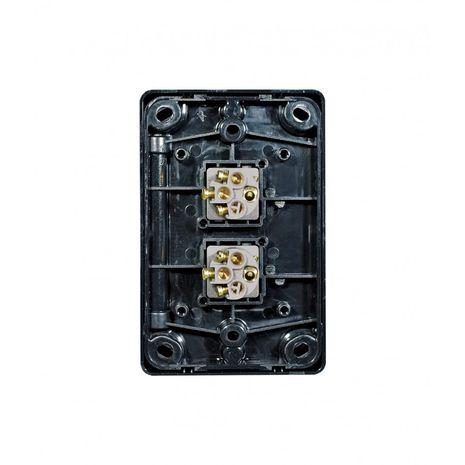 Trader Switch Vertical 2 Gang, 10AX/16A 250V black back