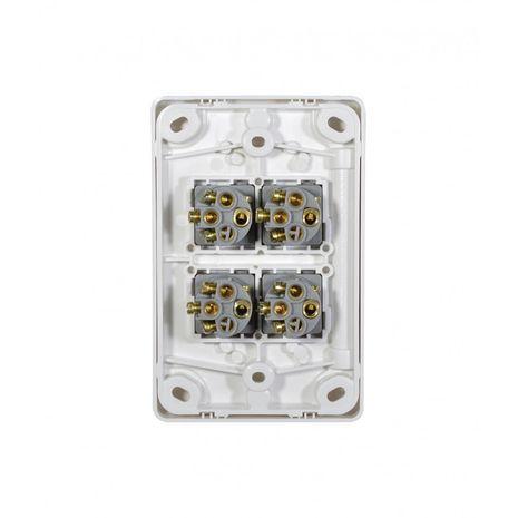 Trader Switch Vertical 4 Gang, 10AX/16A 250V  back