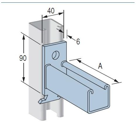 Cantilever Bracket P2514 Hot Dipped Galvanised 400mm