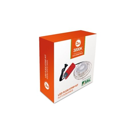 12V Single Colour 6W/m LED Flexi Strip Kit IP44 3000K/5000K FLP12V2M