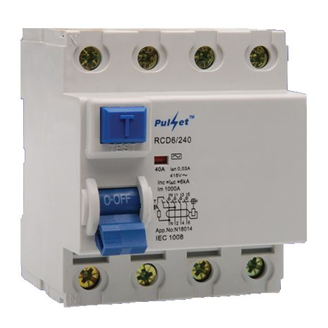 4 Pole 40A Residual Current Device
