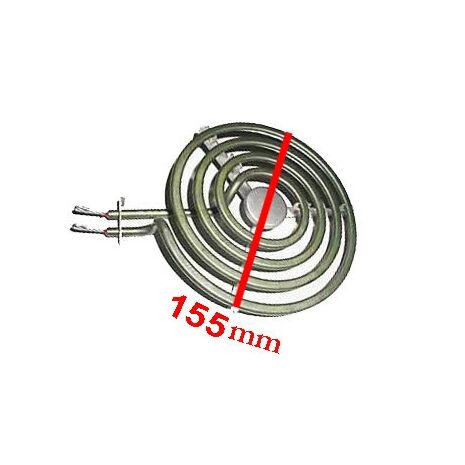 Plug in Stove Element 155mm 1800 W