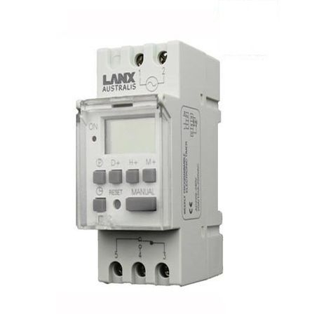 7 day 24 hour Programmable Digital Timer Switch 20A Din Rail Switchboard Mounted